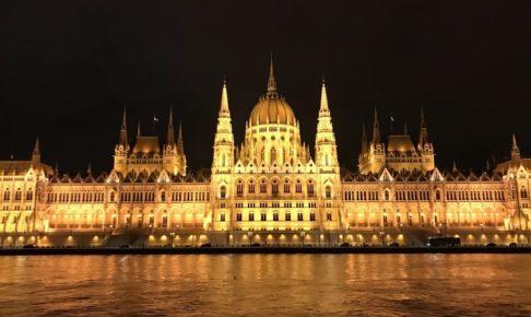 ブダペスト国会議事堂の夜景