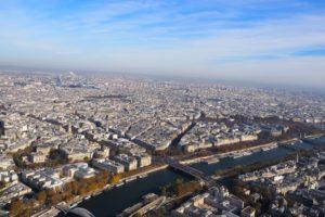 エッフェル塔展望台からの眺め
