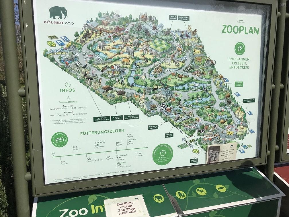 ケルン動物園の地図