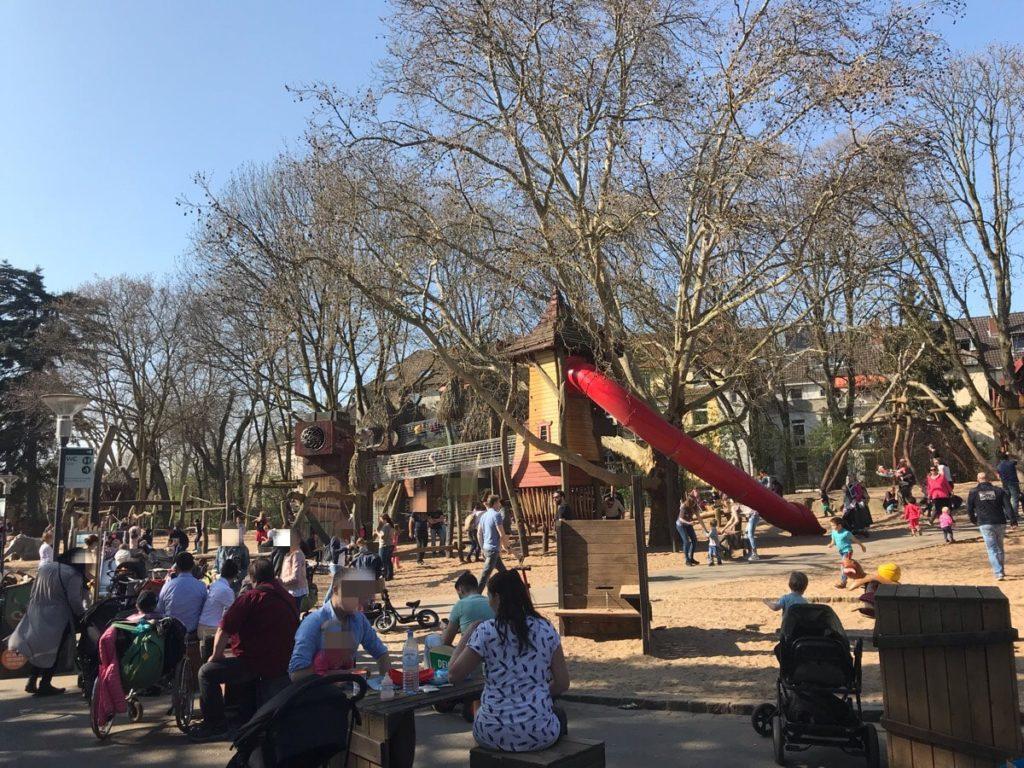 ケルン動物園のアスレチック広場