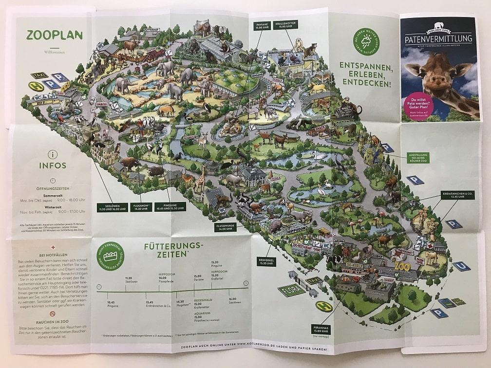 ケルン動物園の園内地図