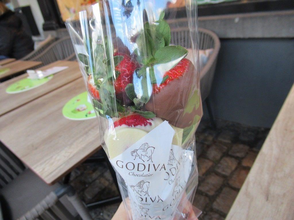 GODIVAのイチゴ