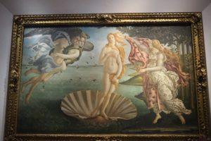 ウフィツィ美術館の「ヴィーナスの誕生」