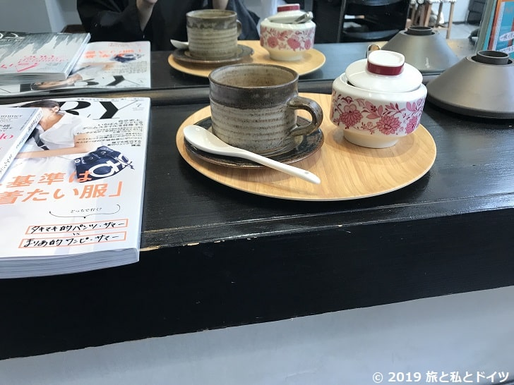ミラージュで提供されたコーヒー