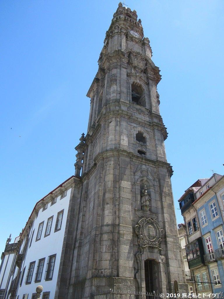 クレリゴス教会と塔の外観
