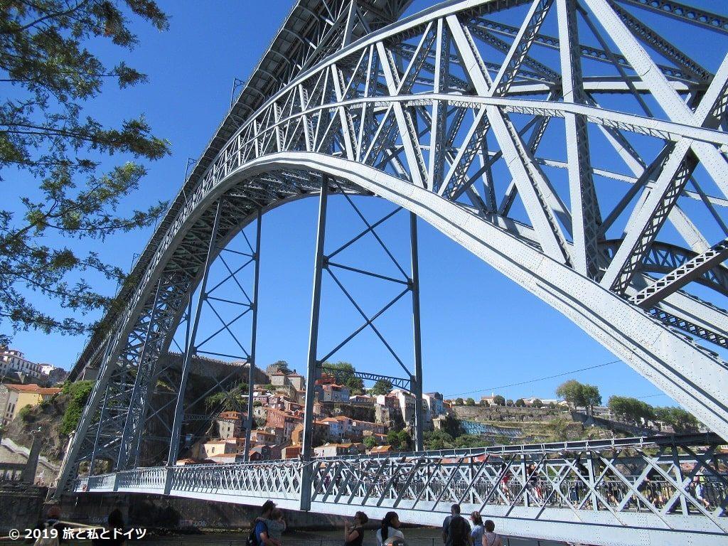 ドン・ルイス1世橋を下から見上げた眺め