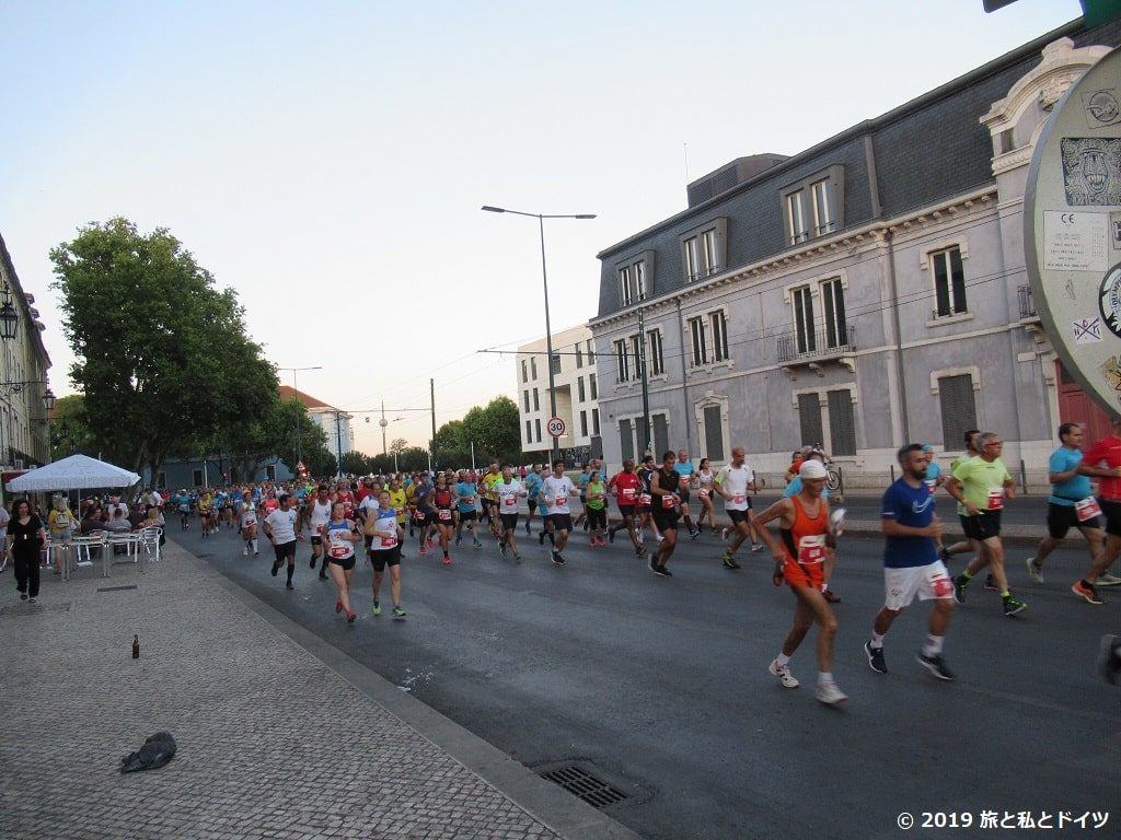リスボンで出くわしたマラソン中の人々