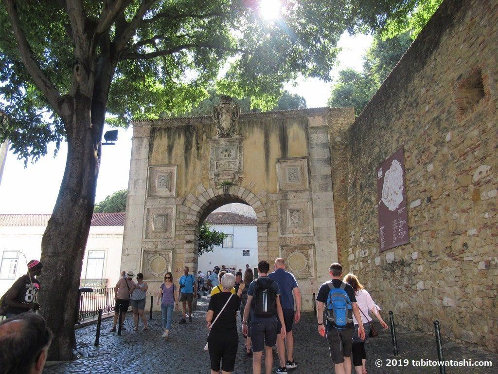 サン・ジョルジェ城入口