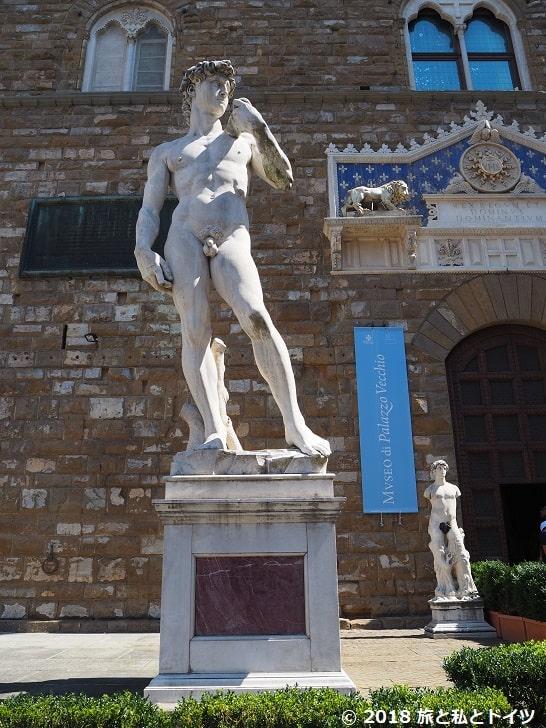 シニョリーア広場のダヴィデ像