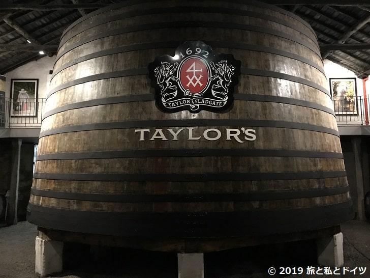 テイラーズの大樽