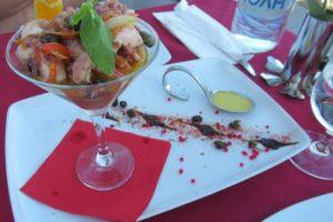 レストラン「1800 Froga」のタコのマリネ