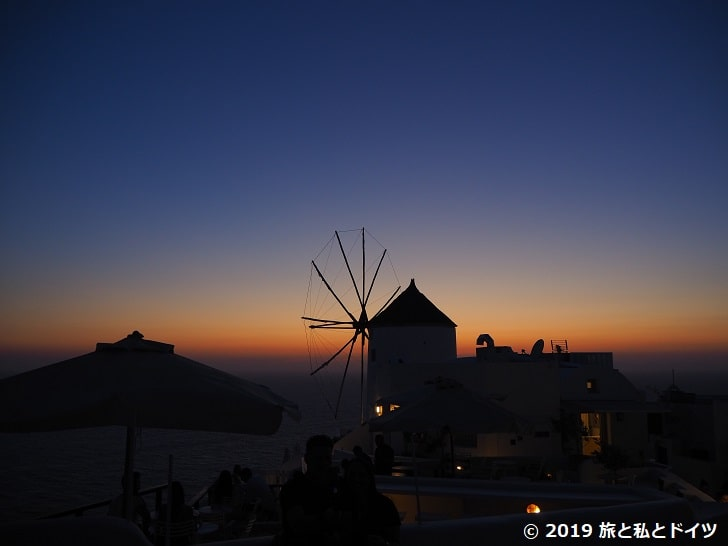 レストラン「Ochre Restaurant」からの夕日