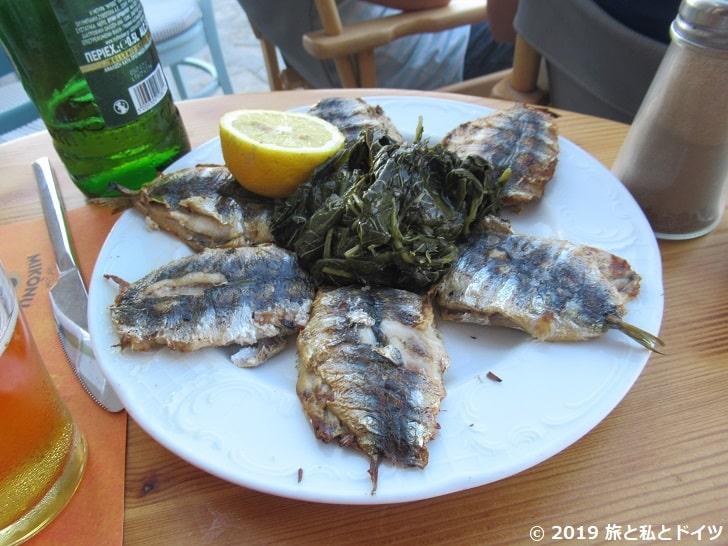 レストラン「Captains」でオーダーした魚のグリル