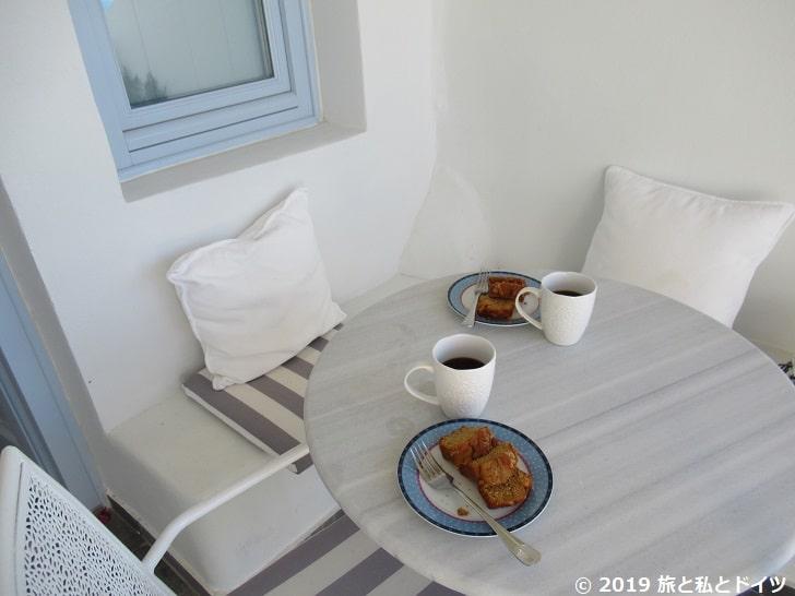 サントリーニ3日目の朝食