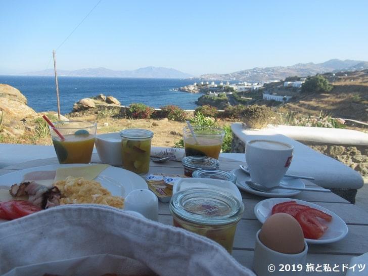 Villa Margaritaの朝食