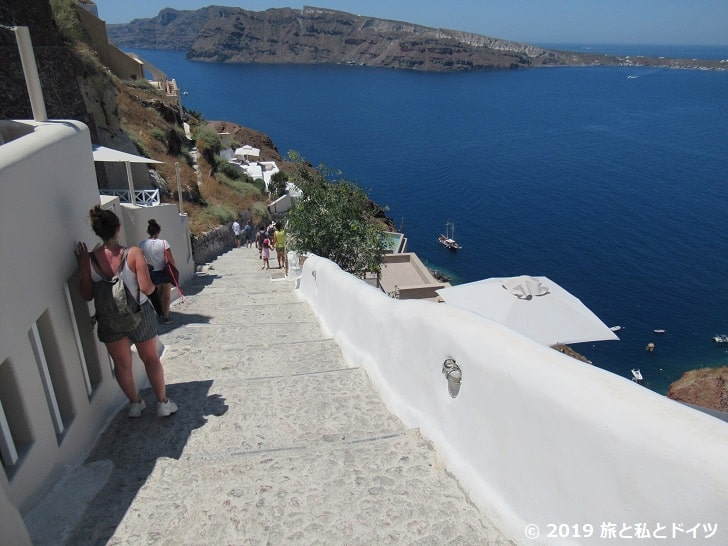 Ammoudi Portまでの階段