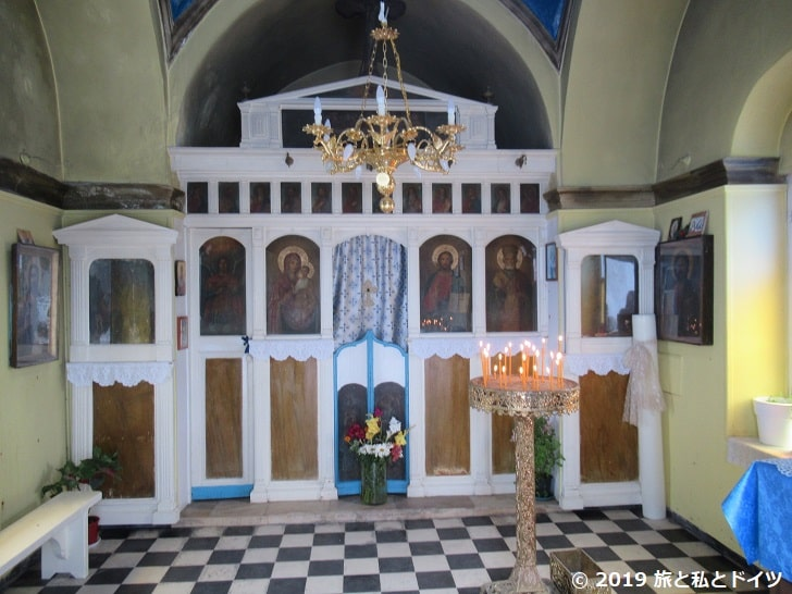 アギオス・二コラオス教会の内部