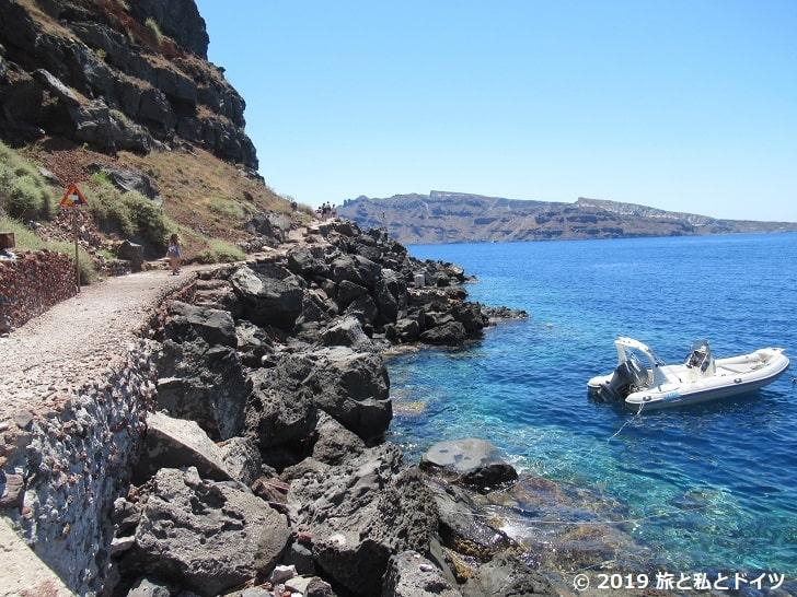 Ammoudi Bay Beachまでの道