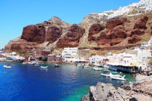 Ammoudi Portの景色