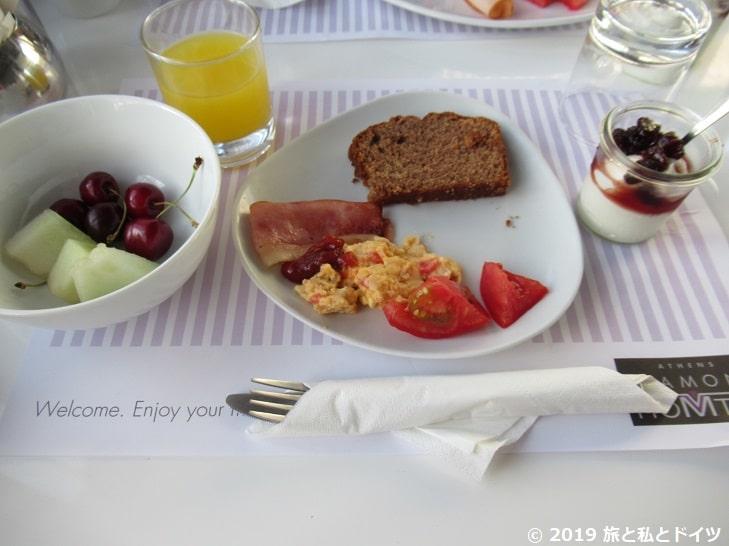 アテネのホテル【Athens Diamond Plus】の朝食