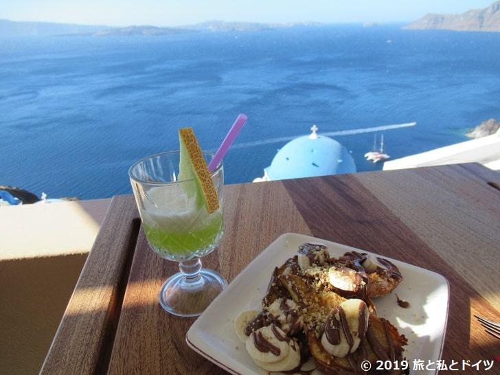 レストラン「Ferpsi in Oia」の朝食
