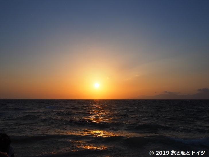 カトリミの風車から見た夕日