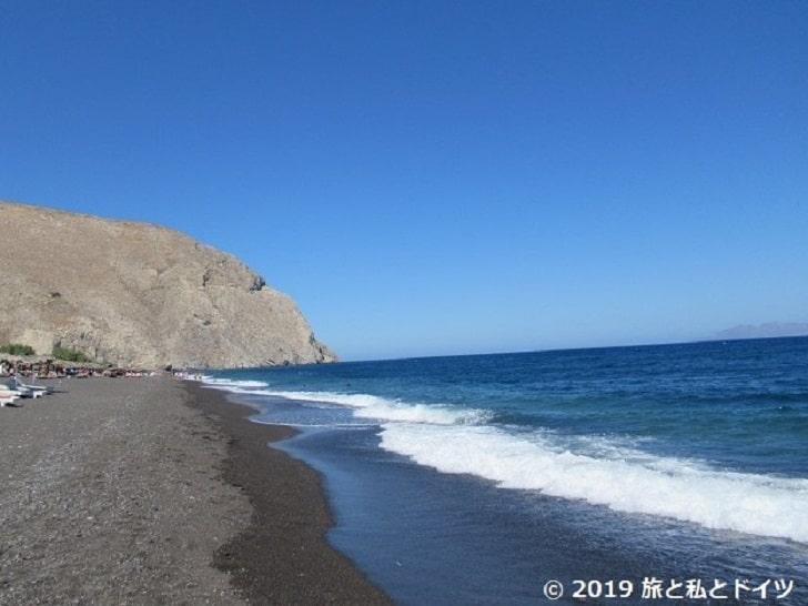 Perissa Beachの風景