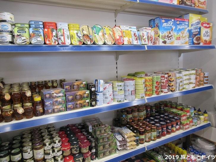 サントリーニのスーパーマーケット