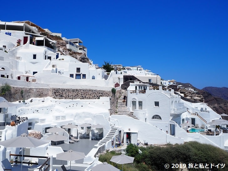 ホテル「Alis caves」からの眺望