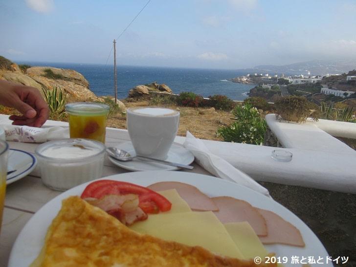 ホテル「Villa margarita」の朝食