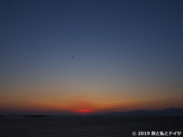 Villa Margaritaから見る夕日