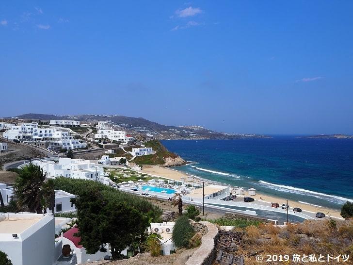 ホテル「Villa margarita」からの眺め