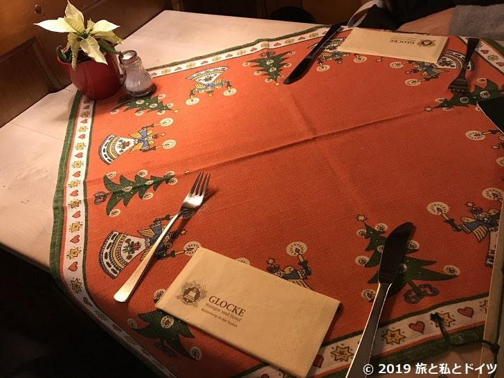 レストラン「Glocke」の内装