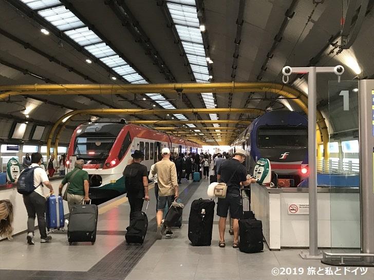 ローマ空港のホーム