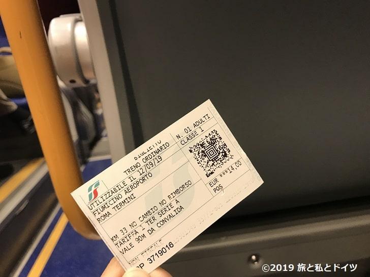 ローマ電車の切符