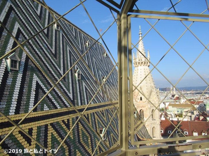 シュテファン大聖堂北塔からの景色