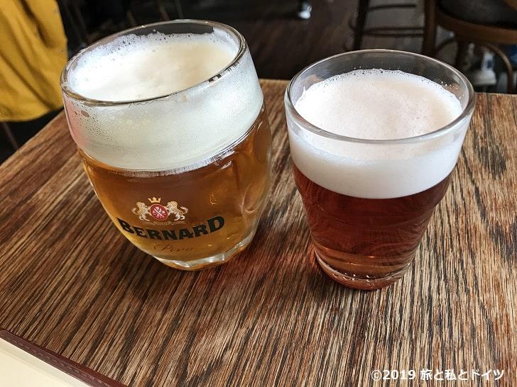 プラハのビールミュージアムのビール