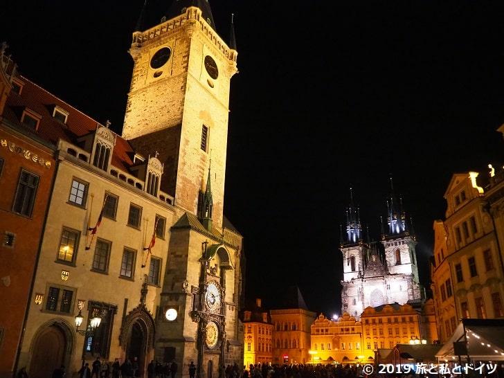 プラハ旧市街の夜景
