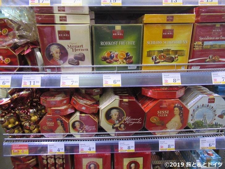 スーパーマーケット「Billa」の商品一例