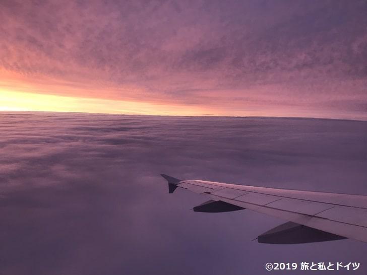 ロンドン行きの飛行機からの眺め