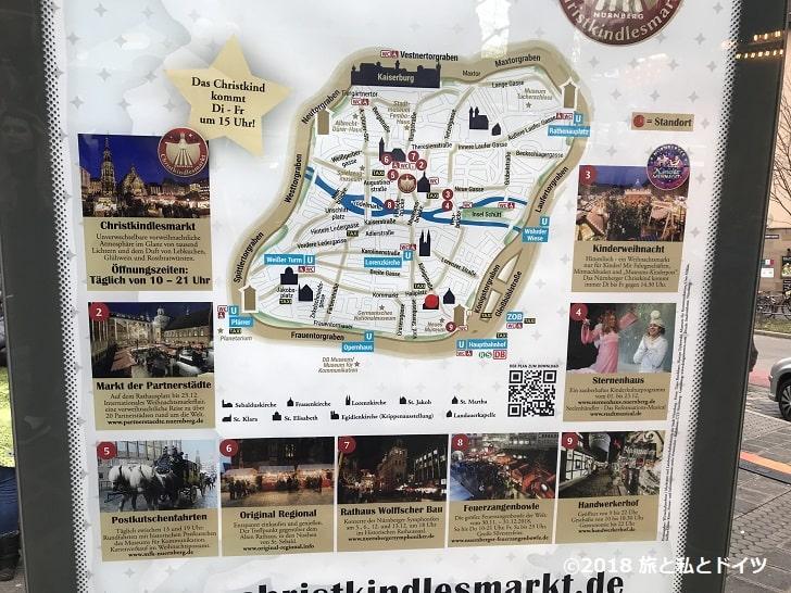 ニュルンベルクのクリスマスマーケットマップ