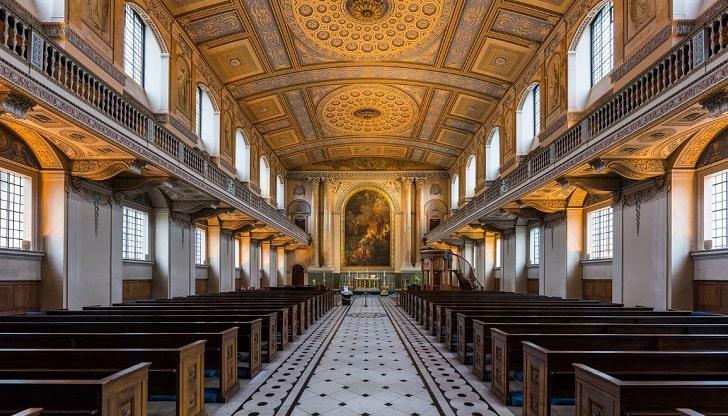 グリニッジ旧王立海軍学校の礼拝堂