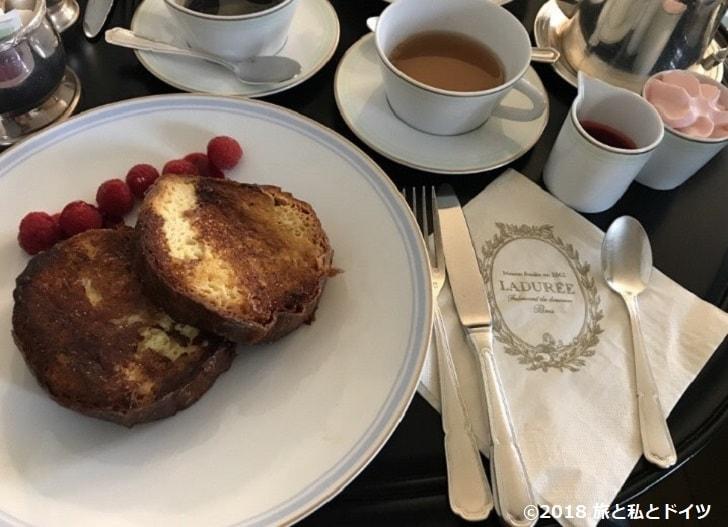 カフェ「ラデュレ」のフレンチトースト