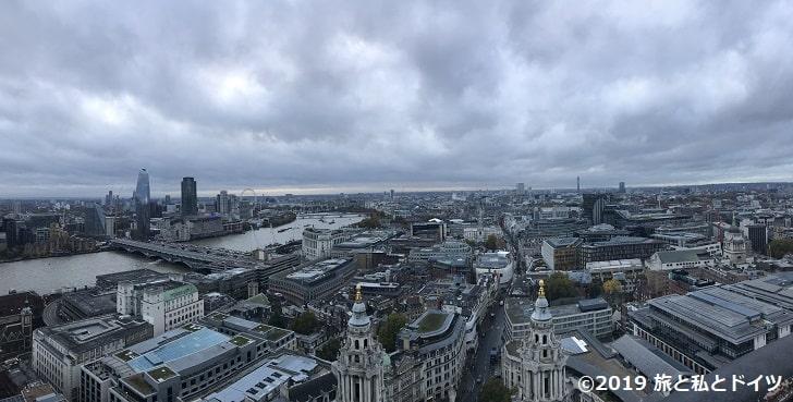 セントポール大聖堂の展望台からの眺望