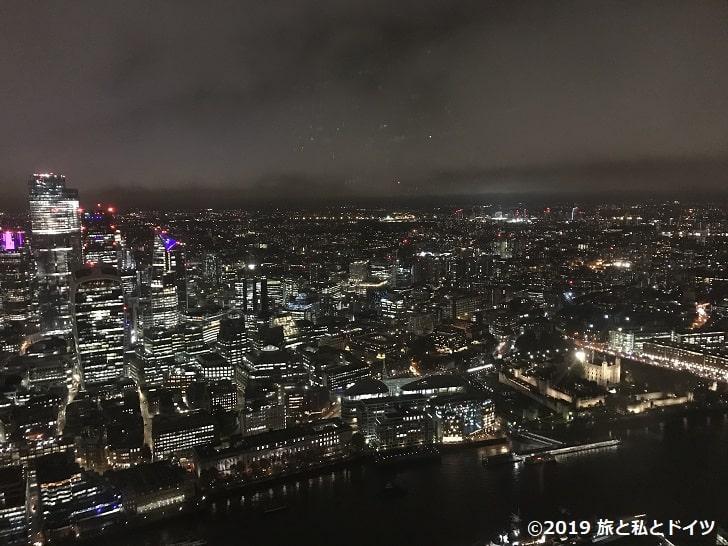 「The Shard」の展望台からの眺望
