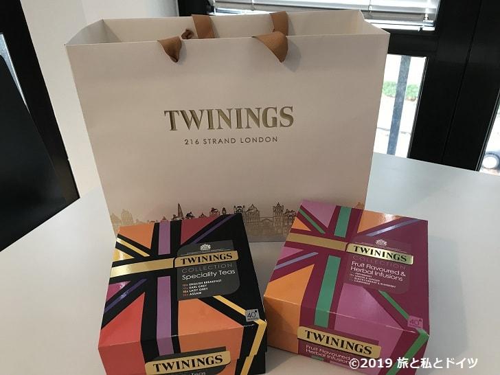 紅茶専門店「TWININGS」で購入した紅茶
