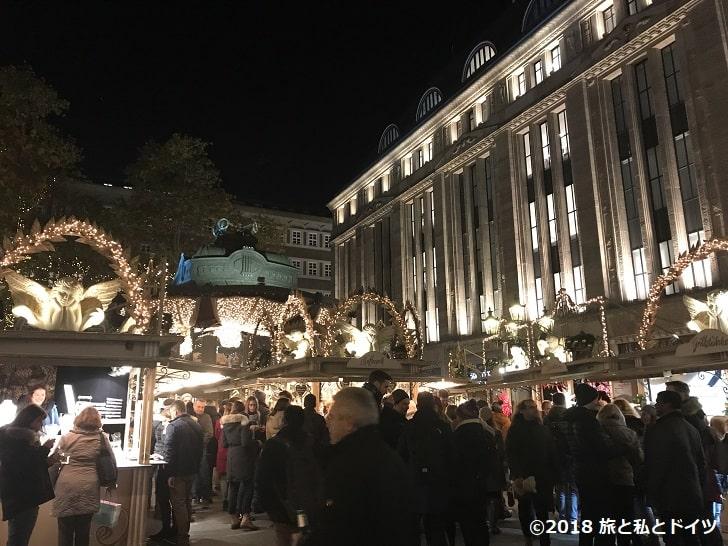 デュッセルドルフのクリスマスマーケット19時