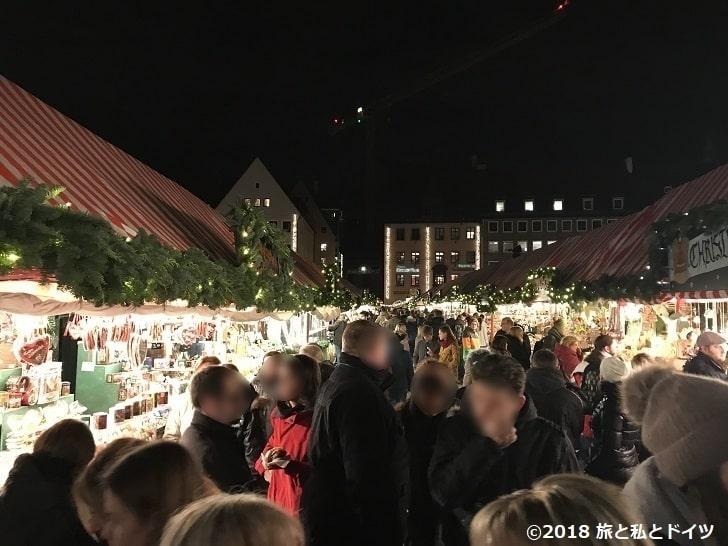 ニュルンベルクのクリスマスマーケット20時