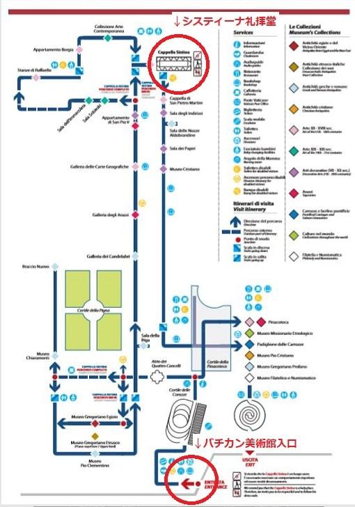 バチカン美術館マップ