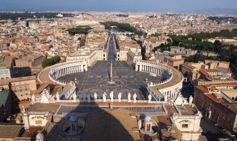 サン・ピエトロ大聖堂のクーポラからの眺め